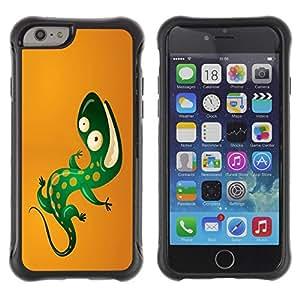 Suave TPU GEL Carcasa Funda Silicona Blando Estuche Caso de protección (para) Apple Iphone 6 / CECELL Phone case / / Cool Funny Lizard /