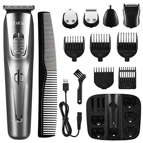 🥇 ATMOKO 5 en 1 cortadora de barba para hombres