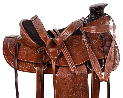 """AceRugs 15"""" 16"""" Premium Classic Tooled Western Roping for sale  Delivered anywhere in USA"""