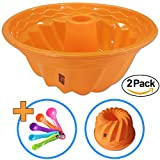 Silicone Fluted Bundt Cake Pan (2-Pack)