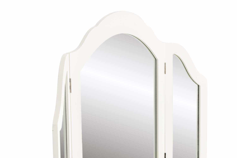 Clp romantica toeletta belle con specchiera tripla e sgabello da