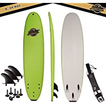 Gold Coast Surfboards | Soft Top Surfboard | 8' Verve Surf Board | Fun Performance Foam Surf Boards | Great For All Surfing Skill Levels