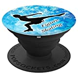 Ice Skating Pop Socket Cool and Cute Gift for Figure Skater - PopSockets Grip and Stand for Phones and Tablets