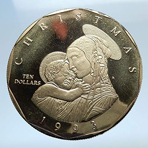 1993 MH 1993 MARSHALL ISLANDS Christmas VIRGIN MARY Jesus coin Good Uncertified