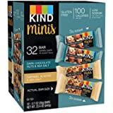 Kind Mini's 32 bar Variety Pack, Dark Chocolate Nuts & Sea Salt, Caramel Almond & Sea Salt, 16 of each flavor, 0.7 oz bars