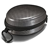 Noontec Carbon Fiber Universal Carrying Case for Foldable Headphones Headset Carrying Hard Shell Travel Bag with Dual Compartments Compatible With Dr. Dre Beats Solo, Monster DNA, Diamond Tears