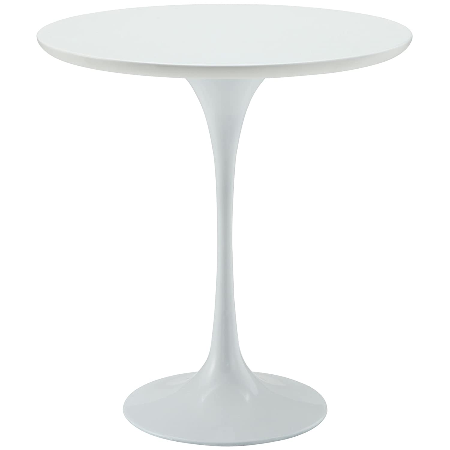 """Modway Lippa 20"""" Wood Side Table in White"""