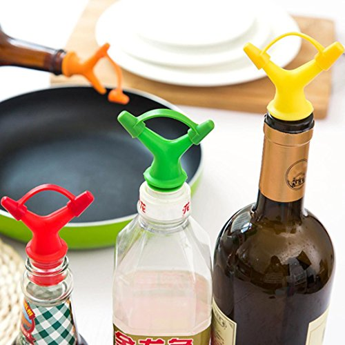 Clearance Sale!DEESEE(TM)Double Head Leakproof Soy Sauce Bottle Mouth Stuffed Vinegar Bottle Stopper (Yellow) by DEESEE(TM)_Home (Image #5)