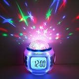 Anself Horloge/ Réveil de projection dynamique du ciel étoilé coloré accompagné avec des rythmes de la musique