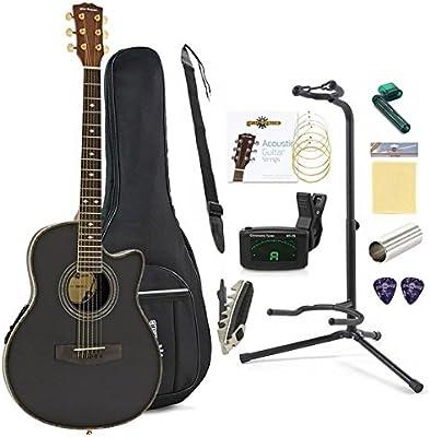 Set Completo de Guitarra Electroacustica Roundback de Gear4music ...