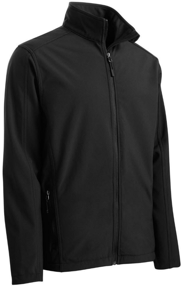 Joe's USA tm Mens Big and Tall Core Soft Shell Jacket-Black-3XL