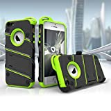 Zizo Military Grade Drop Tested Bolt Series iPhone SE Case for iPhone 5s / SE / 5c with iPhone SE Screen Protector, Kickstand, and Holster Belt Clip