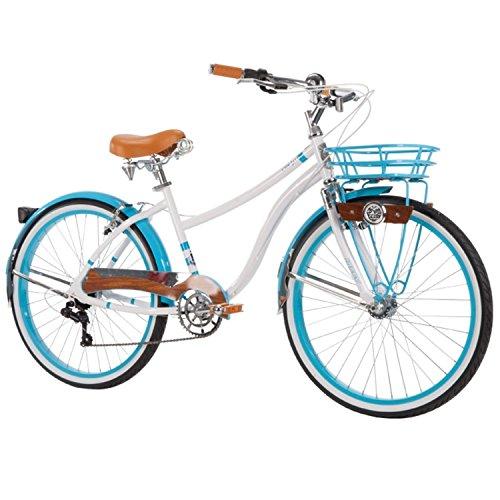 Eminentshop 26 Womens 7Speed Beach Cruiser Bike With Basket Hybrid Commute