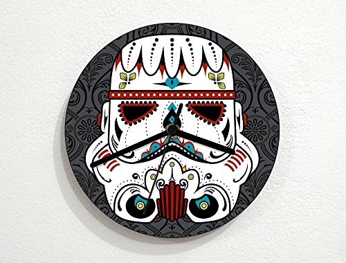 Sugar Skull - Stormtrooper - Star Wars Novelty Gift - Custom Name Wall Clock