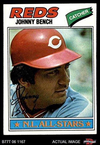 1977 Topps # 70 Johnny Bench Cincinnati Reds (Baseball Card) Dean's Cards 5 - EX Reds