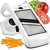 Adjustable Mandoline Slicer - Stainless Steel Vegetable Slicer &...