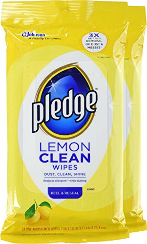 Pledge Lemon Wipes, 24 Count (Pack of 2) - 3