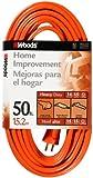 Woods 0626 14/3 Outdoor SJTW Vinyl Extension Cord, 50-Foot, Orange
