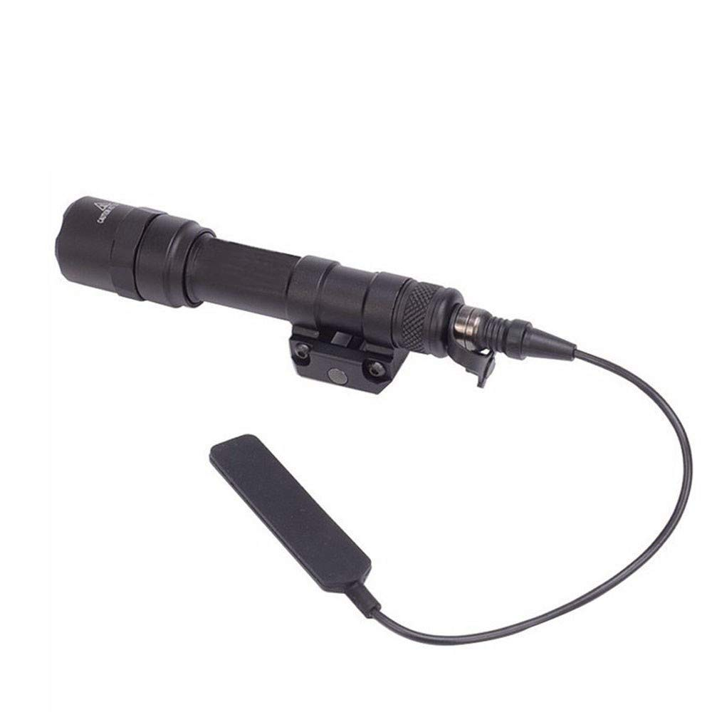 FARMSOLDIER M600C Mini Scout Compact LED WeaponLight 220 Lumens with 2 x CR123A Batteries for Hunting Hiking Black