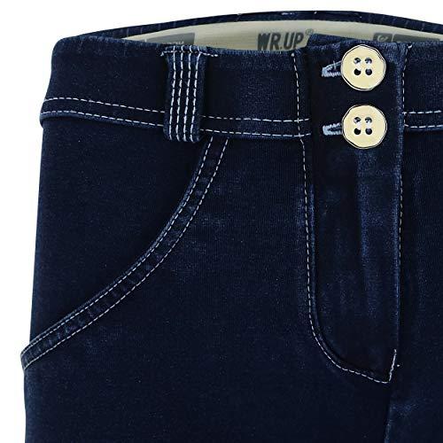 Jeans Super Foncé Skinny coutures En Blanc Wr Taille Délavage Classique up® Small Foncé Avec Denim FwPq5vq