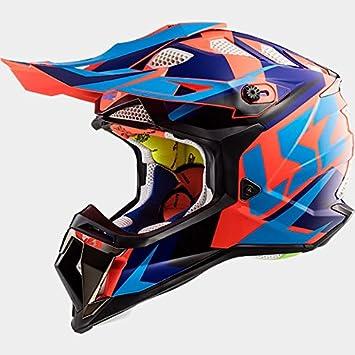 LS2 MX470 SUBVERTADOR ÁGIL Casco de Motocross - Negro Azul Naranja XS (53-54cm