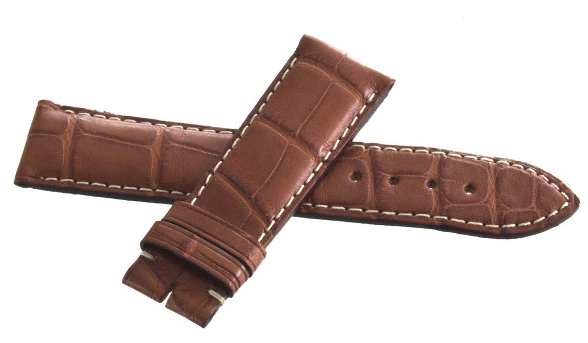 Genuine Longines 20mm x 18mm Brown Leather Watch Band