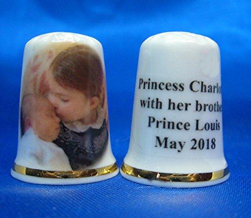 Birchcroft porcellana cinese collezione ditale–Princess Charlotte con Brother principe Louis–free Gift Box Birchcroft China