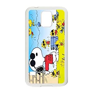 Samsung Galaxy S5 Case Cool Snoopy with Many Stock, [White]