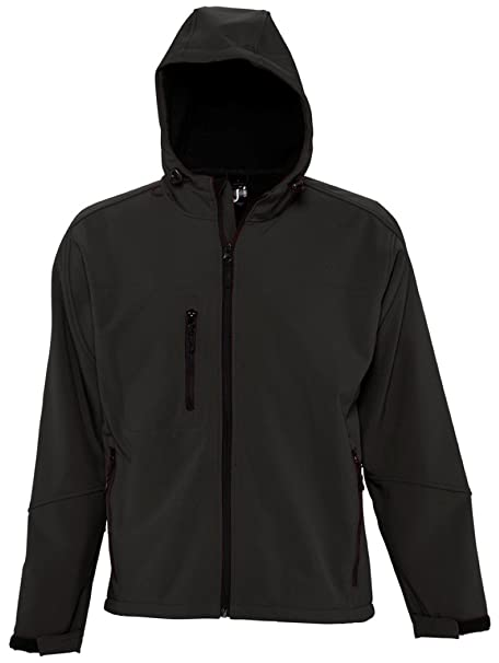 SOL'S Men's Replay Hooded Soft Shell Jacket: Amazon.co.uk