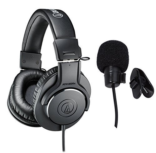 Audio Monitor Technica - Audio-Technica ATH-M20x Professional Studio Monitor Headphones Deluxe Bundle