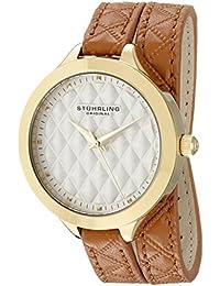 Women's 658.02 Vogue Beige Wrap Around Leather Strap Watch