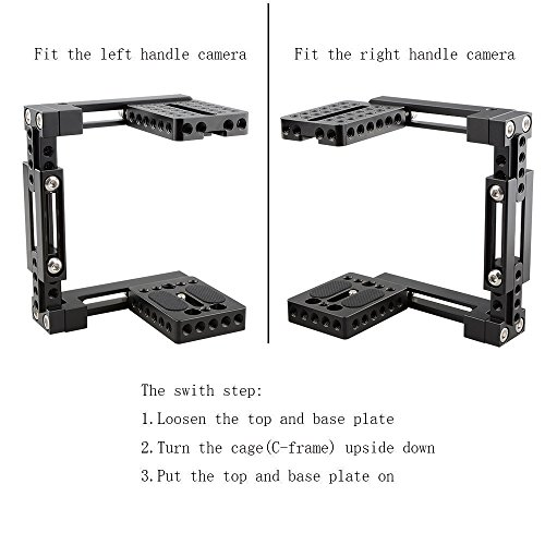 CAMVATE Adjustable Camera Cage Fit for Right Handle and Left Handle Camera(Basic)