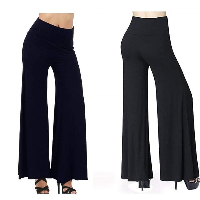 Amazon.com: Pantalones de yoga de 3 wmall de cintura alta ...