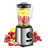 Blender, Smoothie Blender, Household Blender with Glass Jar, Preset Functions & Variable Speed Controls by Comfee For Sale