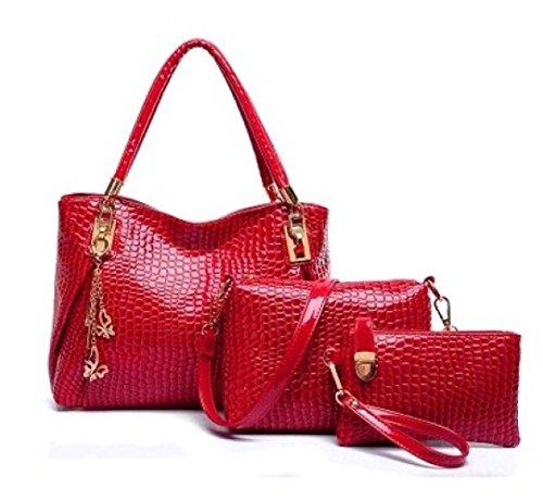Package 3 H Seasons Casual Outdoor Women's Pcs Bag For All Set Bags PU Set FwwOB7Iq