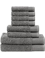 Camelot Collection- Premium Quality, 550 GSM, Zero Twist Cotton 6 Piece Towel Set (2 Bath Towels, 2 Hand Towels, 2 Face Towels)