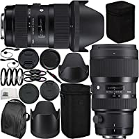 Sigma 18-35mm f/1.8 DC HSM Art & 50-100mm f/1.8 DC HSM Art Dual Lens Bundle for Nikon. Includes Manufacturer Accessories + 2 3PC Filter Kits (UV-CPL-FLD) + 4PC Macro Filter Set (+1,+2,+4,+10) + MORE