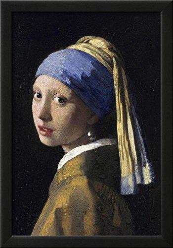 Johannes Vermeer Girl with a Pearl Earring Art Print Poster Framed