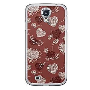 Loud Universe Samsung Galaxy S4 Love Valentine Printing Files A Valentine 19 Printed Transparent Edge Case - Red/White