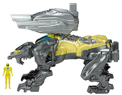 [Power Rangers Movie Sabretooth Battle Zord with Yellow Ranger Figure] (Teeth Movie Online)