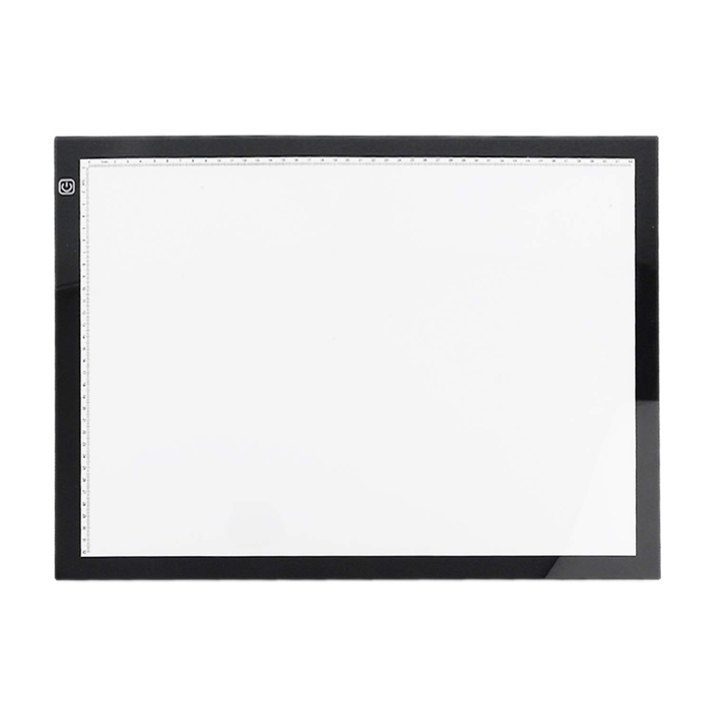 A3 Tablero de dibujo port/átil LED Protecci/ón de la vista Touch Touch Dimmable Tracing Table Light Pad Box para 2D Animation Sketching