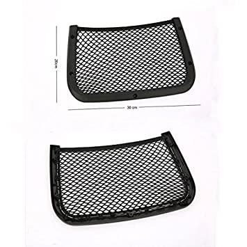 bf0a8124dd Amazon.com: Saasiiyo Car Seat Back Bag Storage Luggage Organizer Holder  Mesh Cargo Pouch For Jeep compass Audi A4L X1 X3 Benz B series: Beauty