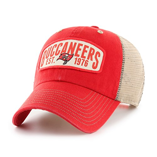NFL Tampa Bay Buccaneers Woodford OTS Challenger Adjustable Hat, Torch Red, One ()