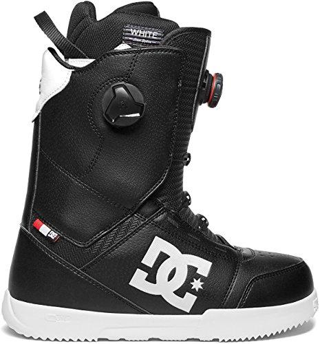 DC Men's Control Dual Boa Snowboard Boots, 11, Black