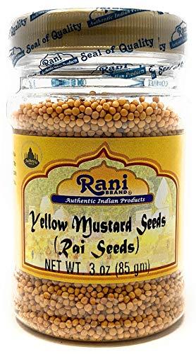 - Rani Yellow Mustard Seeds Whole Spice 3oz (85g) ~ All Natural | Vegan | Gluten Free Ingredients | NON-GMO | Indian Origin