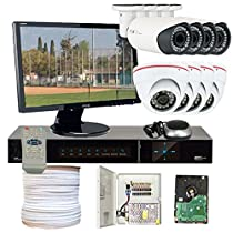 GW Security VD8CHH8 8 CH HD-SD DVR 8 x HD-SDI 1/3-Inch 1.3 Megapixel 720p ZeeAnn Progressive Scan CMOS Camera