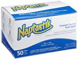 Hoffmaster 120821 Naptastik Clothing Protector with Pouch, 18'' Length x 13'' Width, White (12 Packs of 50)