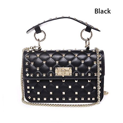 High Quality Ladies Bags Bags Chain Soft Shoulder Women's Small Bag Genuine Bag Feminine Rivet Aassddff Small Totes Crossbody Green Black WqRCI8