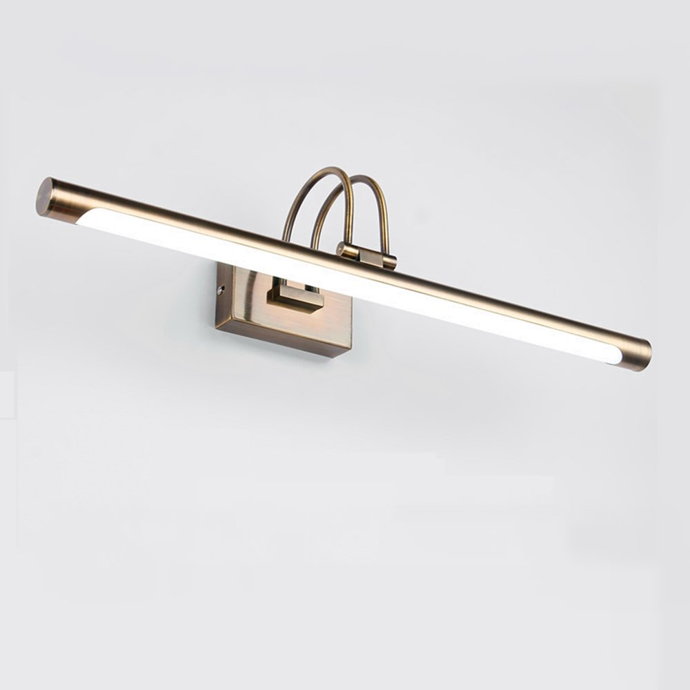 LED Picture Light, Full Metal Artwork Lamp with Swivel Lamp Head, 3000K Warm White, 640Lm, Antique Brass Finish,Mirror Wall Lamp, Bathroom Lighting (28.5''Wide 16W)