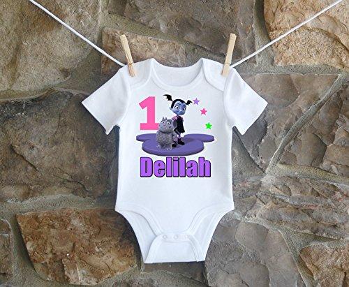 Vampirina Birthday Shirt, Vampirina Birthday Shirt For Girls, Personalized Girls Vampirina Birthday Shirt, Customized Vampirina Birthday Shirt by Lil Lady Treasures